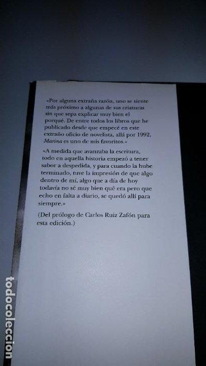 Libros de segunda mano: LIBRO-MARINA-CARLOS RUÍZ ZAFÓN-SOBRECUBIERTA-2008-3ªREIMPRESIÓN-SOBRECUBIERTA-VER FOTOS - Foto 4 - 185756860