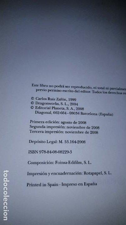 Libros de segunda mano: LIBRO-MARINA-CARLOS RUÍZ ZAFÓN-SOBRECUBIERTA-2008-3ªREIMPRESIÓN-SOBRECUBIERTA-VER FOTOS - Foto 6 - 185756860