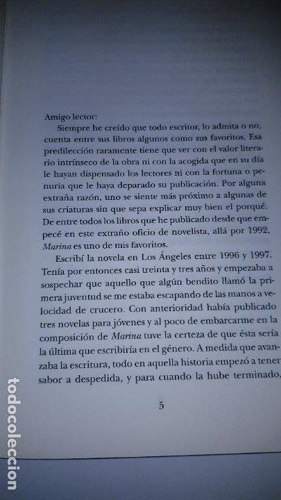 Libros de segunda mano: LIBRO-MARINA-CARLOS RUÍZ ZAFÓN-SOBRECUBIERTA-2008-3ªREIMPRESIÓN-SOBRECUBIERTA-VER FOTOS - Foto 7 - 185756860