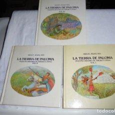 Libros de segunda mano: LA TIERRA DE LA PALOMA.PEQUEÑA HISTORIA DE AMERICA LATINA.TRES TOMOS.MIGUEL ROJAS MIX.LUMEN 1981-199. Lote 254143440