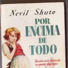 Libros de segunda mano: POR ENCIMA DE TODO. CLASICOS PLAZA Nº 35. - SHUTE, NEVIL.. Lote 186041310