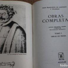 Libros de segunda mano: OBRAS COMPLETAS. ESTUDIO PRELIMINAR Y NOTAS DE FELICIDAD BUENDÍA. TOMO I. OBRAS EN PROSA.. Lote 186428988