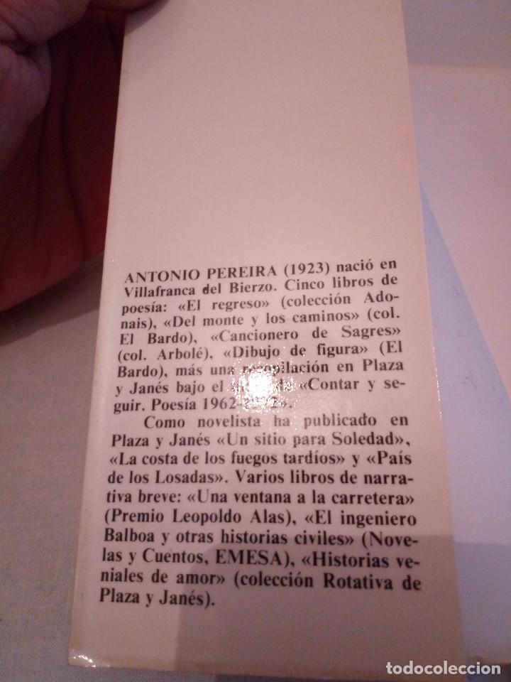 Libros de segunda mano: 187-LOS BRAZOS DE LA I GRIEGA, Antonio Pereira, 1982 - Foto 3 - 187126606