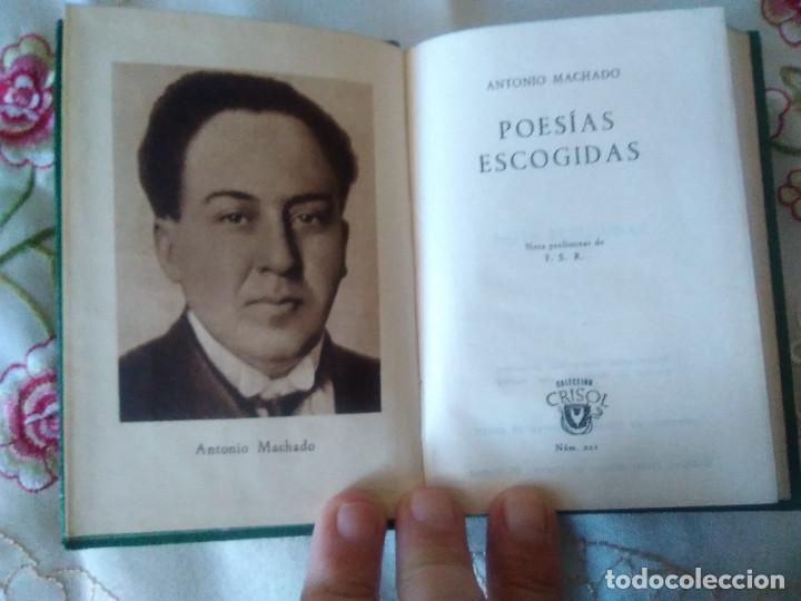 Libros de segunda mano: 221-POESIAS ESCOGIDAS, Antonio Machado, crisol 221 - Foto 2 - 187496255