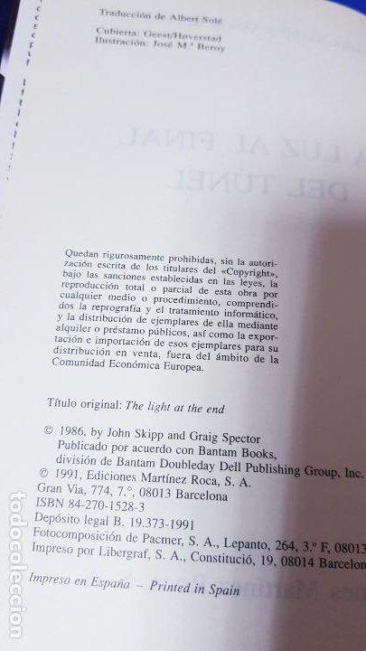 Libros de segunda mano: libro-la luz al final del tÚnel-ed.martinez ROCA-JOHN SKIPP+GRAIG SPECTOR-perfecto estado-ver fotos - Foto 5 - 188762236