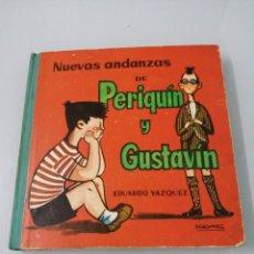 Libros de segunda mano: NUEVAS ANDANZAS DE PERIQUÍN Y GUSTAVÍN. EDUARDO VAZQUEZ. 1962. PRIMERA EDICION. ED. CID.. Lote 189080118