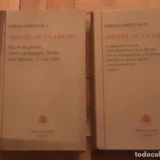 Libros de segunda mano: UNAMUNO. OBRAS COMPLETAS, TOMOS I Y II. BIBLIOTECA CASTRO. Lote 189693347