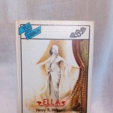 Livres d'occasion: ELLA. HENRY R HAGGARD. Lote 189835490