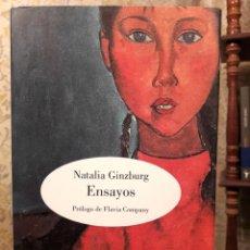 Libri di seconda mano: NATALIA GINZBURG - ENSAYOS. Lote 190167111