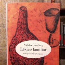 Libri di seconda mano: NATALIA GINZBURG - LÉXICO FAMILIAR. Lote 190285835