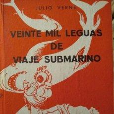 Libros de segunda mano: JULIO VERNE - VEINTE MIL LEGUAS DE VIAJE SUBMARINO - COLECCIÓN ROBINSONES. Lote 190652498