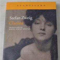 Libros de segunda mano: CLARISSA. ZWEIG,STEFAN. Lote 191038156