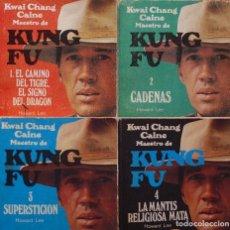 Libros de segunda mano: KUNG FU - COMPLETA 4 LIBROS - GRIJALBO 1974 - SERIE TV CON DAVID CARRADINE COMO KWAI CHANG CAINE. Lote 191224933