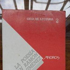 Libros de segunda mano: LA POESIA DE JUAN RAMON JIMENEZ GUIA DE LECTURA VICENTE VALERO. Lote 191697215