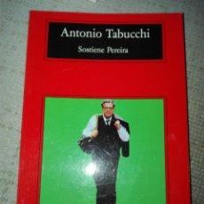 Libros de segunda mano: ANTONIO TABUCCHI. SOSTIENE PEREIRA. ANAGRAMA. BUEN ESTADO. Lote 192200953