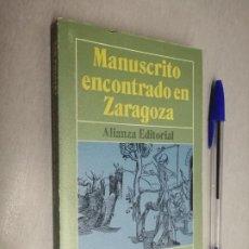 Libros de segunda mano: MANUSCRITO ENCONTRADO EN ZARAGOZA / JAN POTOCKI / ALIANZA EDITORIAL 1971. Lote 192338153