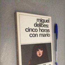 Libros de segunda mano: CINCO HORAS CON MARIO / MIGUEL DELIBES / DESTINOLIBRO 144 - ED. DESTINO 1981. Lote 192342062