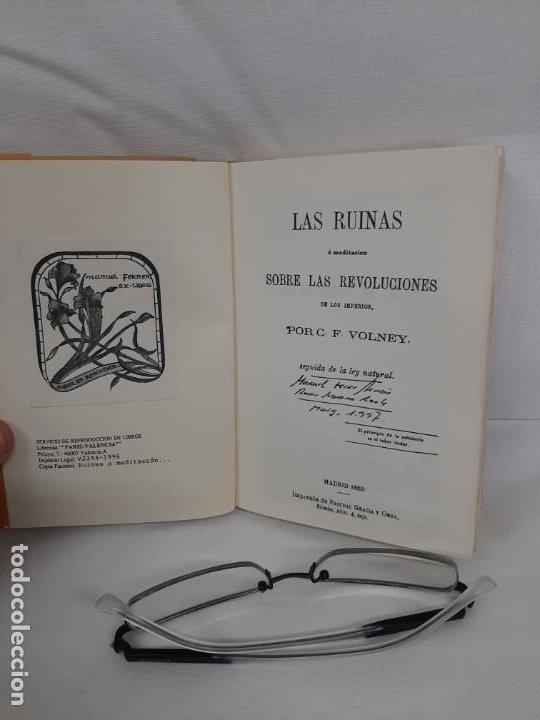 Libros de segunda mano: Las ruinas de Palmira ó meditación sobre las revoluciones de los imperios, 1869, Conde Volney - Foto 2 - 192465192