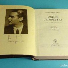 Libros de segunda mano: FEDERICO GARCIA LORCA. OBRAS COMPLETAS. EDITORIAL AGUILAR 2ª EDICIÓN 1955. Lote 192938081