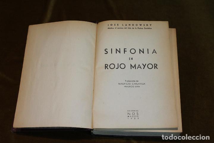 Libros de segunda mano: Sinfonía en rojo mayor,José Landowsky,Editorial Nos,1953 - Foto 2 - 193366686