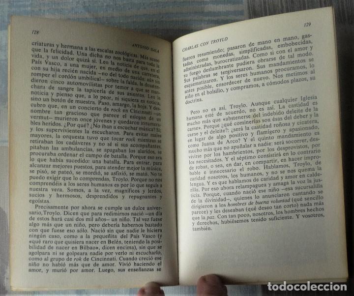 Libros de segunda mano: CHARLAS CON TROYLO - DE ANTONIO GALA - Foto 4 - 31788183