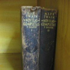 Libros de segunda mano: MARK TWAIN. NOVELAS COMPLETAS Y ENSAYOS.2 TOMOS. AGUILAR S.A. DE EDICIONES MADRID 1953. Lote 193790623