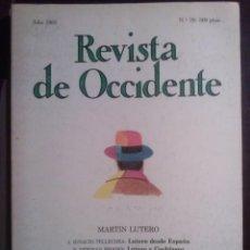 Livres d'occasion: MARTIN LUTERO, REVISTA DE OCCIDENTE. 1983, Nª 29 FUNDA. ORTEGA Y GASSET. VER LAS TODAS LAS FOTOS.. Lote 193834626