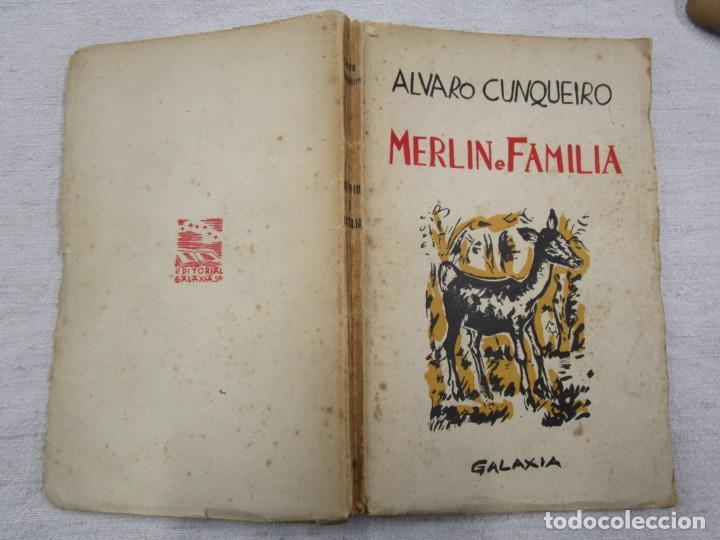 Libros de segunda mano: GALICIA - MERLIN E FAMILIA - ALVARO CUNQUEIRO - EDI GALAXIA 1955 PRIMERA EDICION - PREGO + INFO - Foto 2 - 193957902