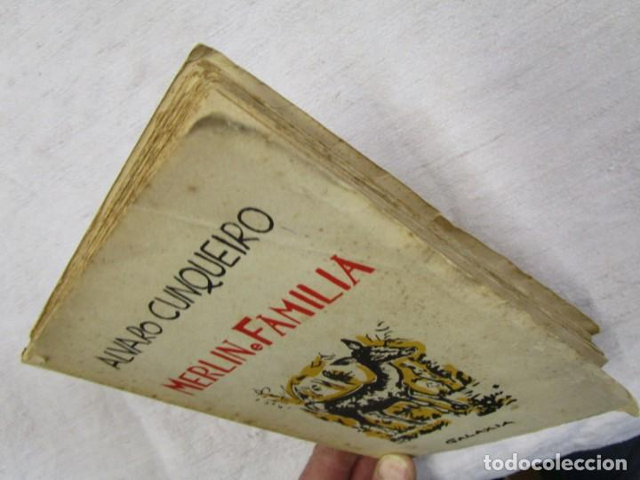Libros de segunda mano: GALICIA - MERLIN E FAMILIA - ALVARO CUNQUEIRO - EDI GALAXIA 1955 PRIMERA EDICION - PREGO + INFO - Foto 3 - 193957902