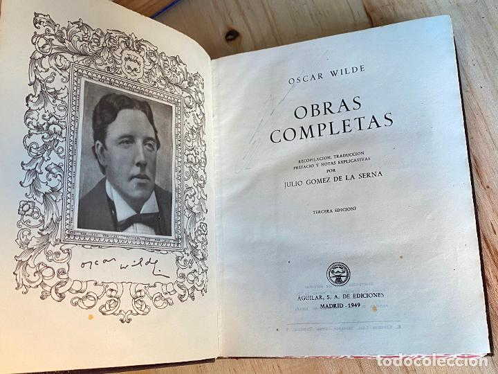 OSCAR WILDE OBRAS COMPLETAS 1949 - AGUILAR (Libros de Segunda Mano (posteriores a 1936) - Literatura - Narrativa - Otros)