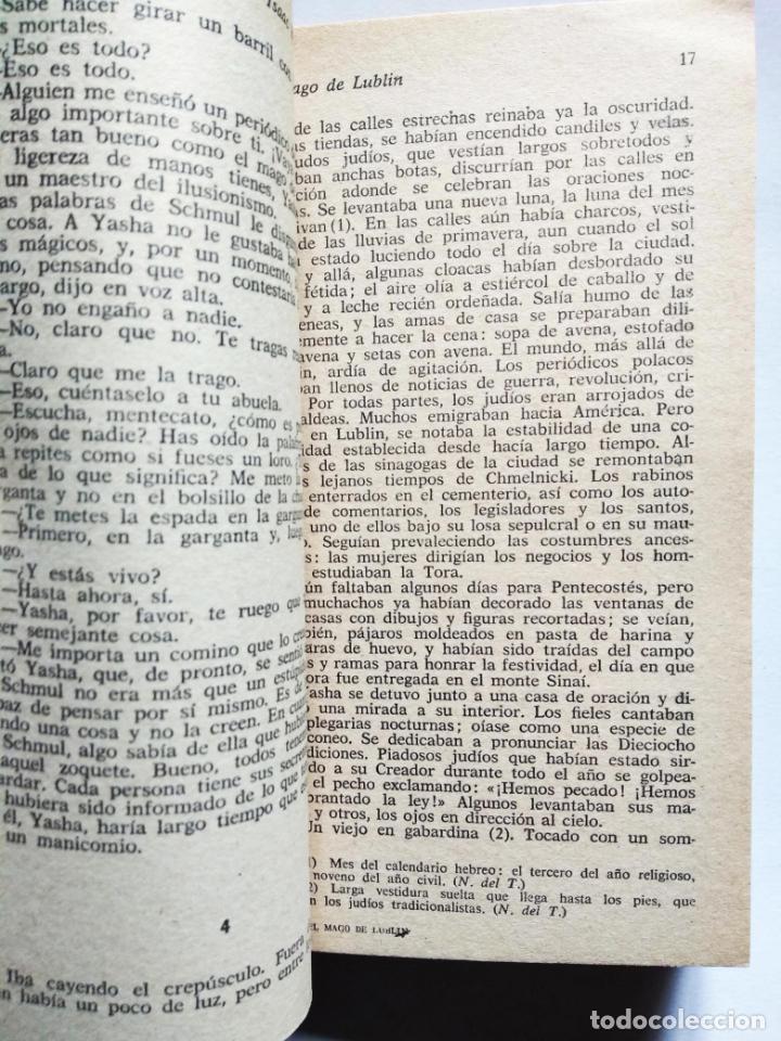 Libros de segunda mano: Spinoza de la calle Market, el | Singer, Isaac Bashevis | Plaza & Janés, 1979 - Foto 4 - 194254375