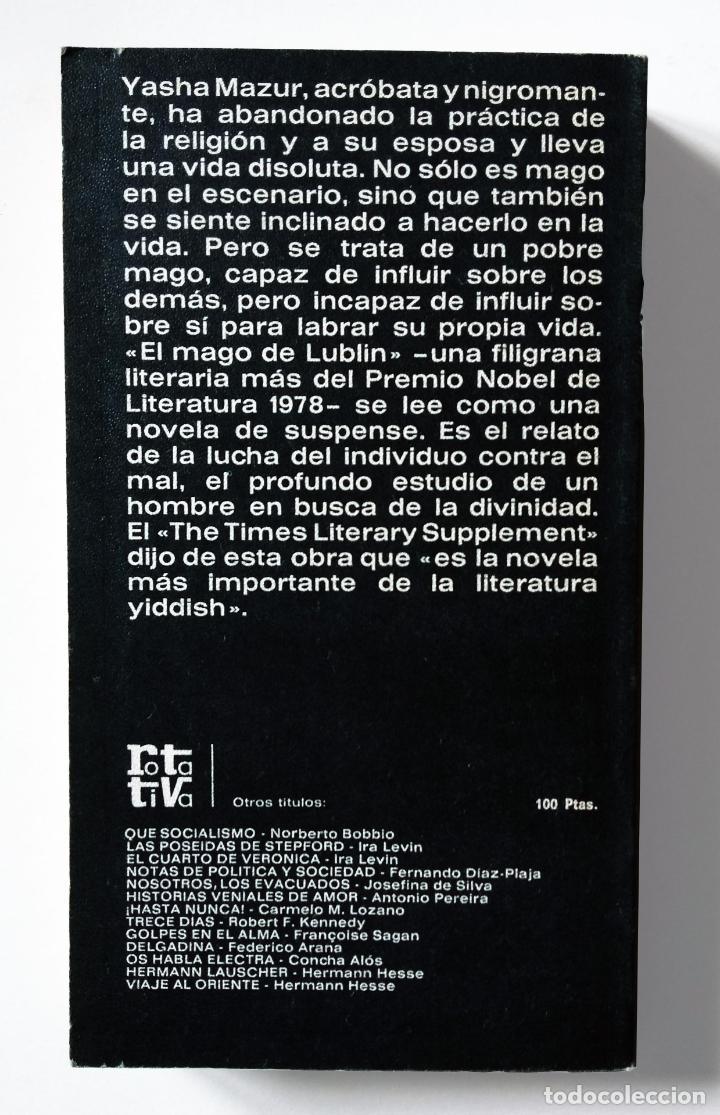 Libros de segunda mano: Spinoza de la calle Market, el | Singer, Isaac Bashevis | Plaza & Janés, 1979 - Foto 5 - 194254375