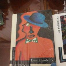 Libros de segunda mano: JUEGOS DE LA EDAD TARDÍA. LUIS LANDERO.. Lote 194339078