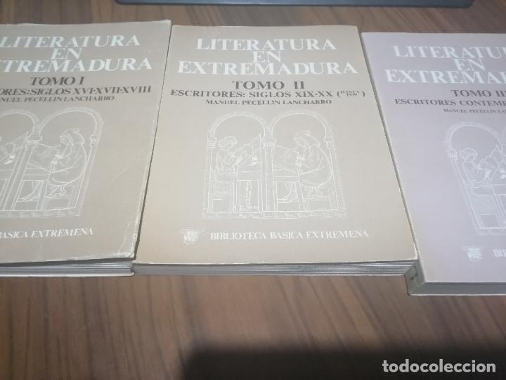 LITERATURA EN EXTREMADURA. TOMO I-II-III. MANUEL PECELLIN. RÚSTICA. BUEN ESTADO. DIFICIL JUNTOS (Libros de Segunda Mano (posteriores a 1936) - Literatura - Narrativa - Otros)