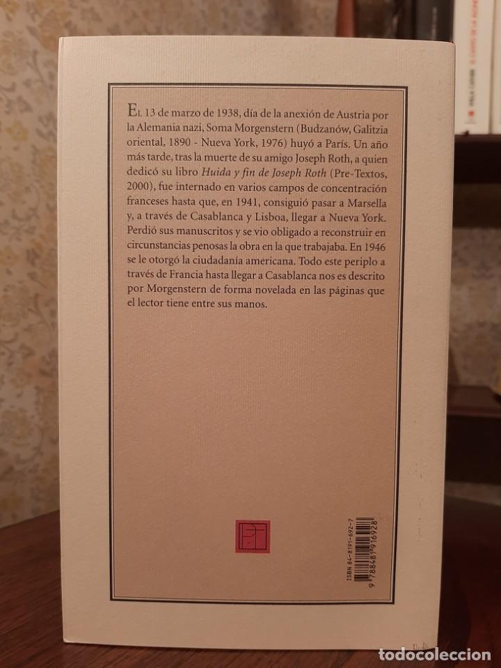 Libros de segunda mano: SOMA MORGENSTERN - HUIDA EN FRANCIA: UN RELATO NOVELADO. - Foto 2 - 194533255