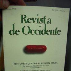 Libros de segunda mano: REVISTA DE OCCIDENTE Nº 373 (JUNIO 2012). L.6922-609. Lote 194574473
