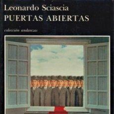 Libros de segunda mano: PUERTAS ABIERTAS / LEONARDO SCIASCIA. Lote 194625012