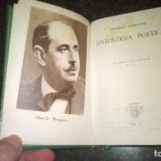 Libros de segunda mano: 31-ANTOLOGIA POETICA, EDUARDO MARQUINA, CRISOL 31. Lote 194736995