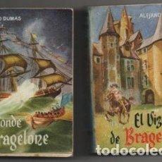 Libros de segunda mano: DUMAS, ALEJANDRO. EL VIZCONDE DE BRAGELONE. 2 TOMOS. COLECCIÓN PULGA Nº 35 Y 36 A-COPULGA-2578. Lote 194778106