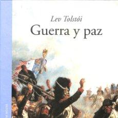 Libros de segunda mano: GUERRA Y PAZ - LEV TOLSTOI - LITERATURA RANDOM HOUSE - GRANDES CLÁSICOS. Lote 194858623