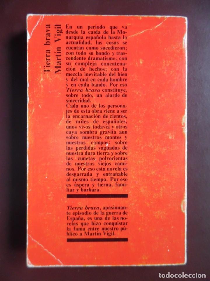 Libros de segunda mano: Tierra brava, de José Luis Martín Vigil. Episodio de la Guerra de España - Foto 2 - 194905900