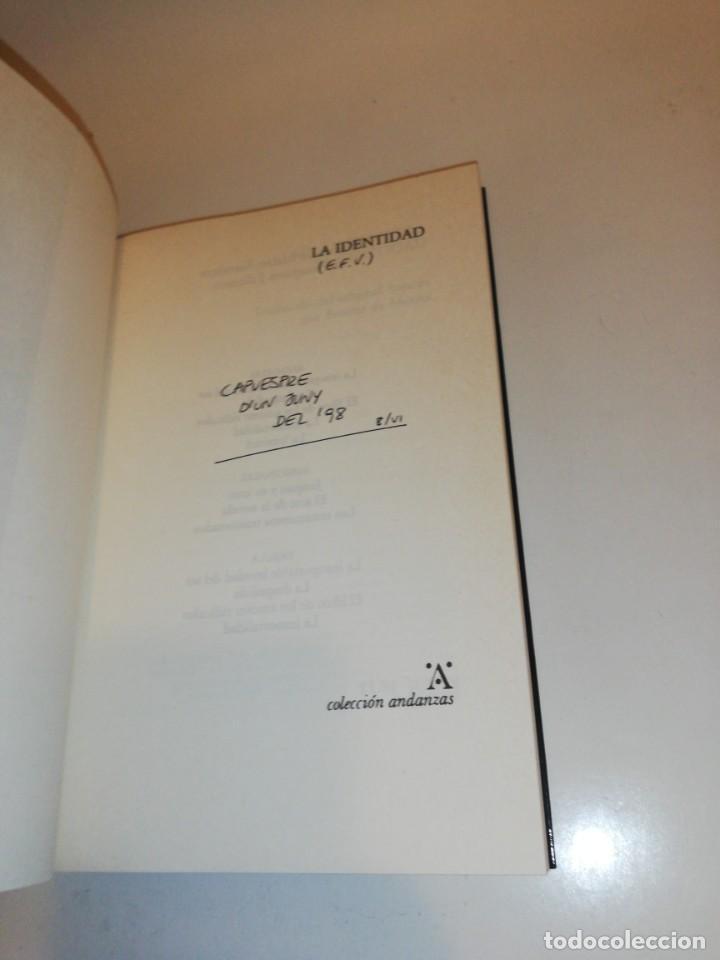 Libros de segunda mano: Milan kundera, la identidad - Foto 3 - 194906170