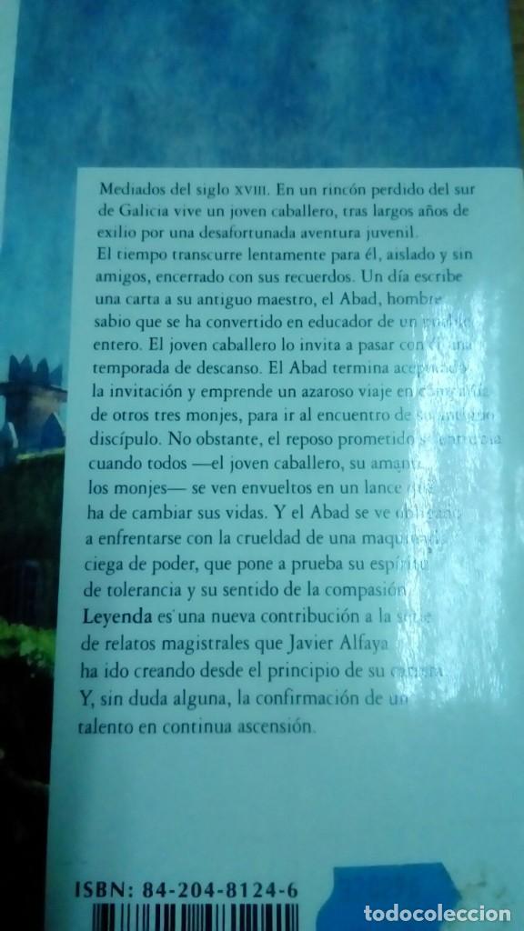 Libros de segunda mano: Leyenda, Javier Alfaya - Foto 2 - 194907348
