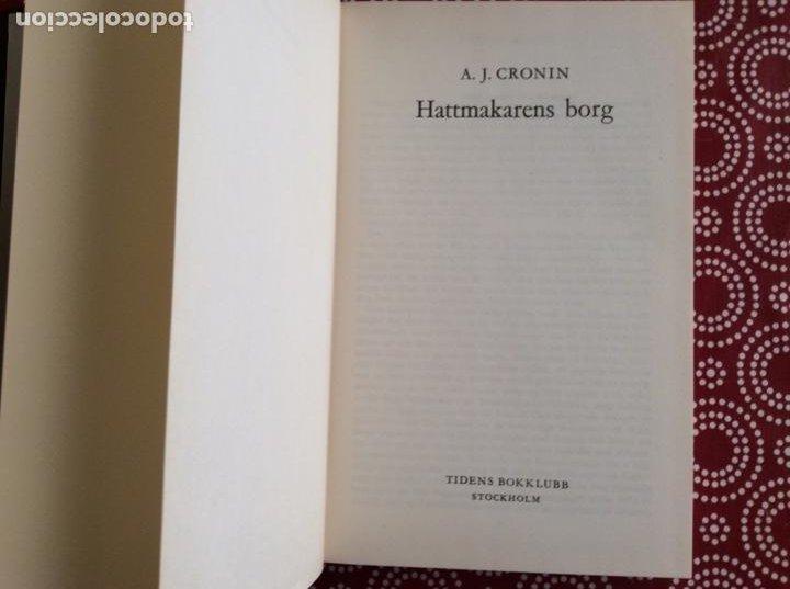 Libros de segunda mano: AJ.CRONIN 1964 HATTMAKARENS BORG - Foto 2 - 194906776