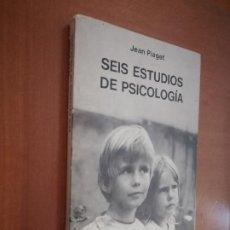 Libros de segunda mano: SEIS ESTUDIOS DE PSICOLOGÍA. JEAN PIAGET. SEIX BARRAL. RÚSTICA. BUEN ESTADO. . Lote 194950233