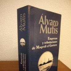 Libros de segunda mano: ÁLVARO MUTIS: EMPRESAS Y TRIBULACIONES DE MAQROLL EL GAVIERO (ALFAGUARA, 2004) INCLUYE LAS 7 NOVELAS. Lote 194953608