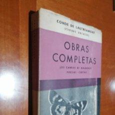 Libros de segunda mano: OBRAS COMPLETAS. CONDE DE LAUTREAMONT (ISIDORE DUCASSE). BUEN ESTADO PERO SE NOTA PASO DEL TIEMPO. Lote 195151796