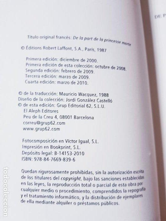 Libros de segunda mano: LIBRO-DE PARTE DE LA PRINCESA MUERTA-KENIZÉ MOURAD-4ªEDICIÓN-2010-EL ALEPH EDITORES-EXCELENTE-VER FO - Foto 11 - 195164710
