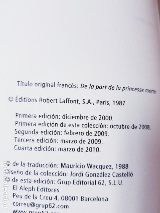 Libros de segunda mano: LIBRO-DE PARTE DE LA PRINCESA MUERTA-KENIZÉ MOURAD-4ªEDICIÓN-2010-EL ALEPH EDITORES-EXCELENTE-VER FO - Foto 12 - 195164710
