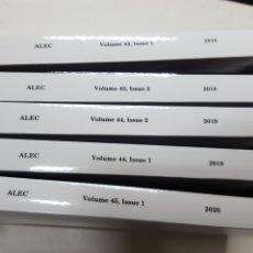 Libros de segunda mano: ANALES DE LA LITERATURA ESPAÑOLA CONTEMPORANEA.7 VOLUMENES NUEVOS AÑO 2018: 1-2. 2019: 1-2. 2020: 1. Lote 195288651